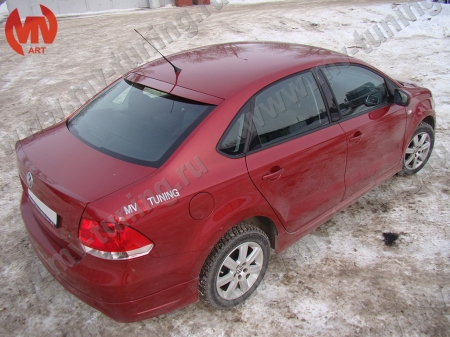 АБС-пластик Козырек на заднее стекло VW Polo Sedan